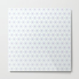 White and Pastel Floral Industrial Manchester Railways Metal Print