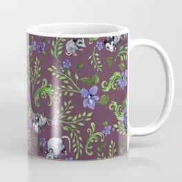 Opossum, Fern, & Violet Print Coffee Mug