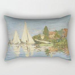 Regattas at Argenteuil by Claude Monet Rectangular Pillow