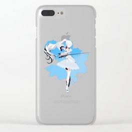 RWBY Minimalist (Weiss Schnee) Clear iPhone Case