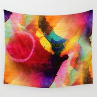 circles Wall Tapestries featuring Circles by mimulux