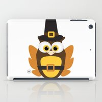 thanksgiving iPad Cases featuring Owl Thanksgiving by Yatasi