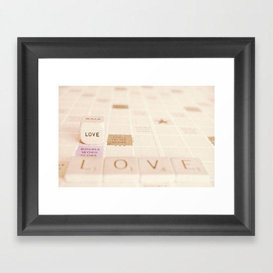 love....double word score Framed Art Print