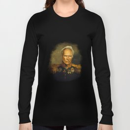 Clint Eastwood - replaceface Long Sleeve T-shirt