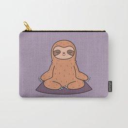 Kawaii Cute Yoga Loving Sloth Carry-All Pouch