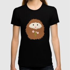 Hedgie in Spring LARGE Womens Fitted Tee Black