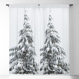 Winter Trees VIII - Snow Capped Forest Adventure Nature Photography Blackout Curtain