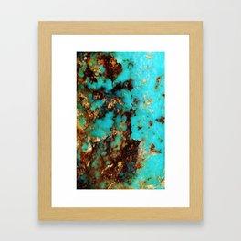 Turquoise I Framed Art Print