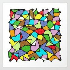 Yzor pattern 130001 Connexions  Art Print