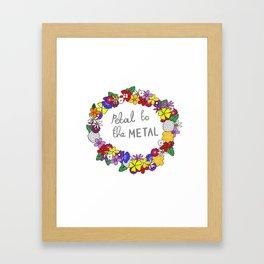 Petal to the metal  Framed Art Print