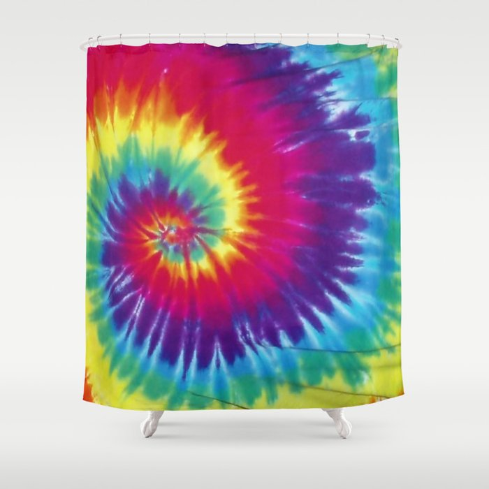 Tie Dye Hippie Shower Curtain By Closeddoor