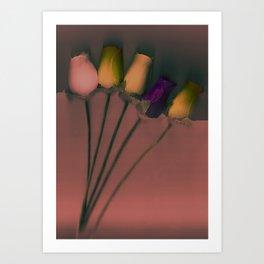 Plastic Flowers Art Print