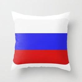 Russia flag Throw Pillow