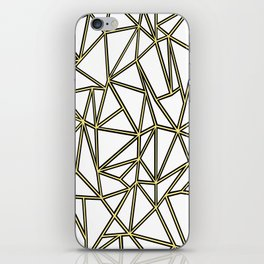 Ab Blocks White Gold iPhone Skin