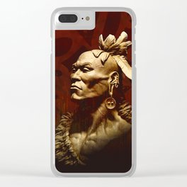 First Peoples Power - Woodland -red Clear iPhone Case