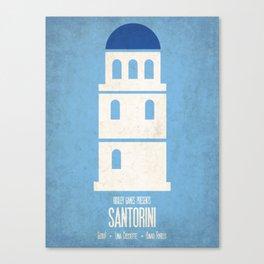 Santorini - Minimalist Board Games 01 Canvas Print