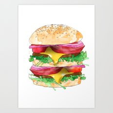 California Burger Art Print