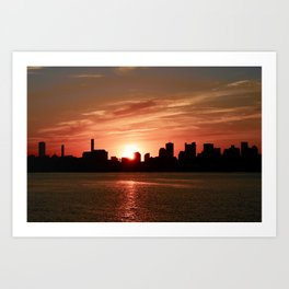 Boston Sunset Art Print