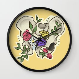 Flowery Pelvis Wall Clock