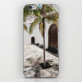 Palm tree growing in the street. La Palma, Canary Island. iPhone Skin