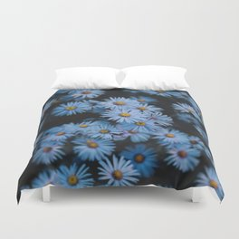 Blue Asters Duvet Cover