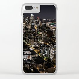 Seattle from the Space Needle Clear iPhone Case