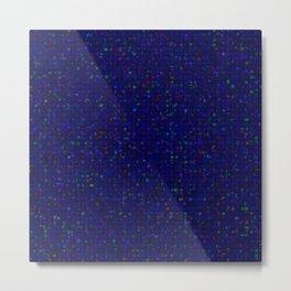 Antique Texture Sapphire Blue Metal Print
