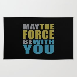 May the force be with you #on black Rug