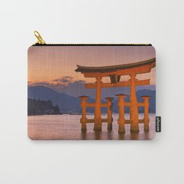 I - Miyajima torii gate near Hiroshima, Japan at sunset Carry-All Pouch