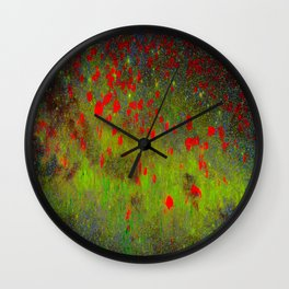 SPACE POPPIES Wall Clock