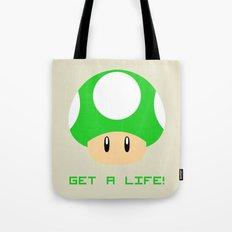 Get A Life! (Super Mario) Tote Bag
