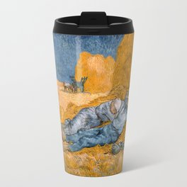 """Vincent van Gogh - Noon Rest From Work (A """"Copy"""" of a Jean-François Millet Work) Travel Mug"""