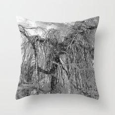 RELAX... It's Just A (Black&White) MINDfuck! Throw Pillow