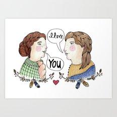 Lady Love Art Print