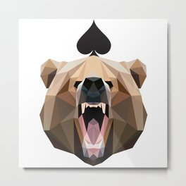 Spades of Bear Metal Print