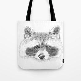 Cheeky Raccoon Tote Bag