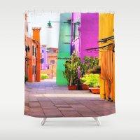 street Shower Curtains featuring street by Asano Kitamura