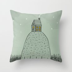 'The house on the hill' Throw Pillow