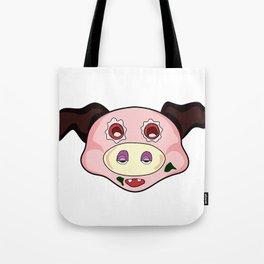 crazy pig Tote Bag