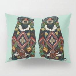 sun bear mint Pillow Sham