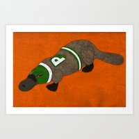 platypus Art Prints featuring Platypus by subpatch
