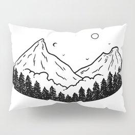 Montagnes dans les nuages Pillow Sham