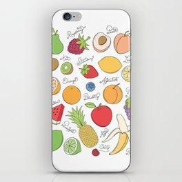 Fruit Doodles iPhone Skin