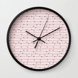 Dark Plants on Red Land Wall Clock
