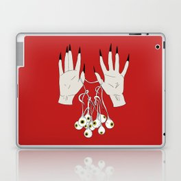 Creepy Hands Holding Eyes Laptop & iPad Skin