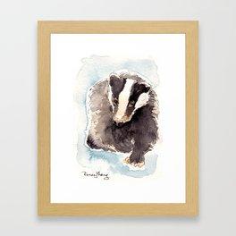 The Badger Framed Art Print