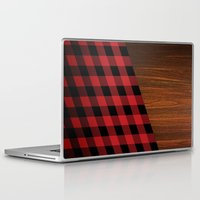 wooden Laptop & iPad Skins featuring Wooden Lumberjack by Nicklas Gustafsson