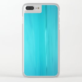 Abstract Turquoise Clear iPhone Case