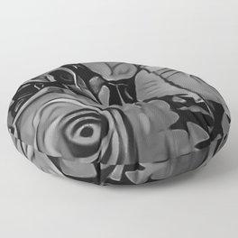 Black & White Roses Floor Pillow