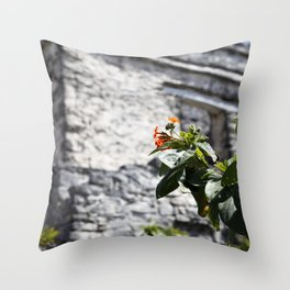 Touch of color in Tulum Throw Pillow